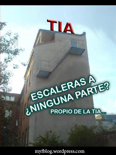 El edificio de la TIA... y sus escaleras